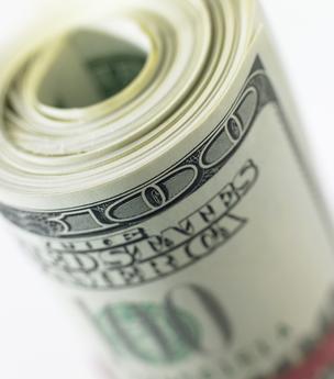 roll of hundred dollar bills
